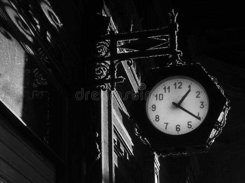 Gothic background with clock royalty free stock image