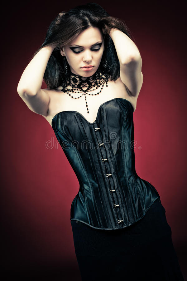 Download Gothic beauty stock image. Image of style, corset, modern - 12691301