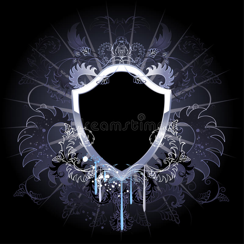 Download Gothic black shield stock vector. Image of darkness, drops - 19705541