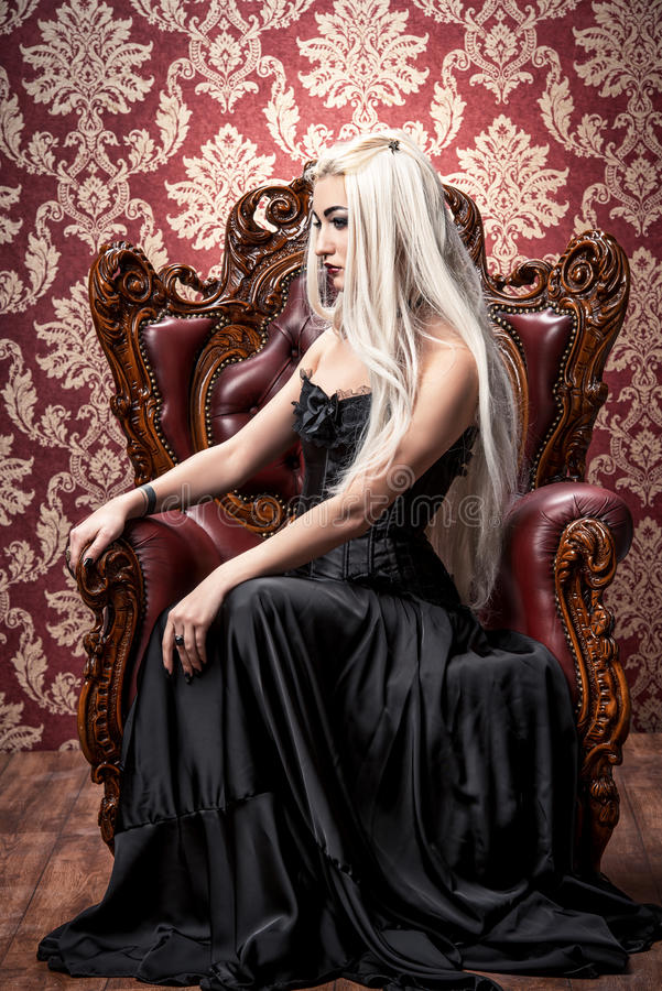 Download Gothic and blonde stock photo. Image of costume, halloween - 83428822