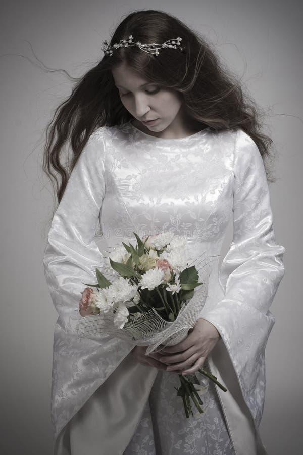 Gothic bride stock photography
