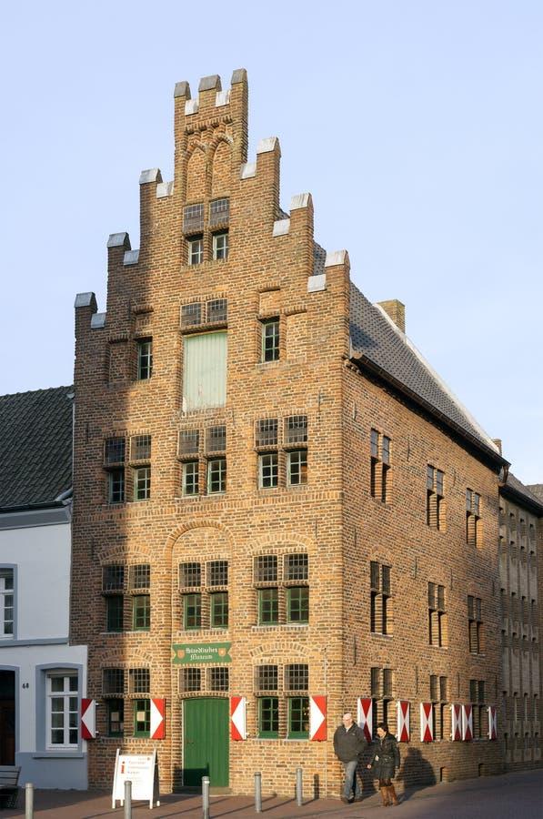 Gothic building, ancient museum, city Kalkar. Germany, land, state North Rhine-Westphalia, city Kalkar, brick Gothic museum building. This property is a landmark royalty free stock photo