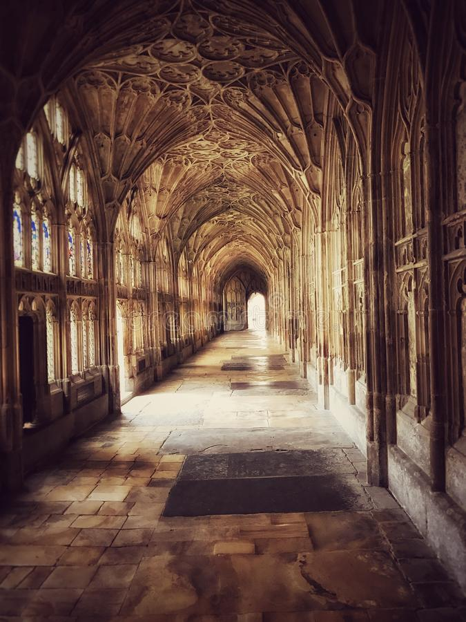 Gothic building interior royalty free stock images