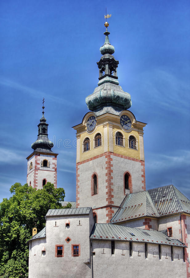 Gothic castle church in slovakia royalty free stock photos