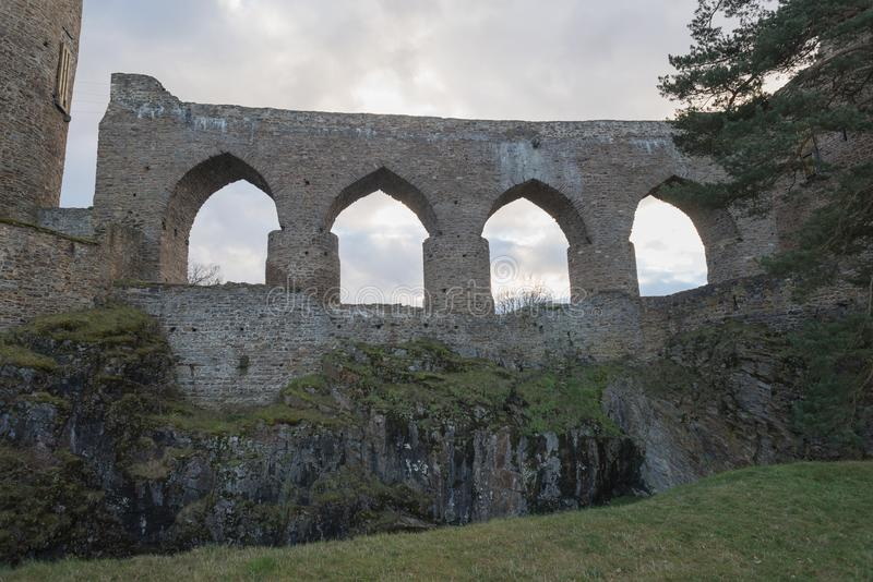 Download Gothic Castle Public Ruin Of Velhartice Czechia Arcade Bridge Wall Tower