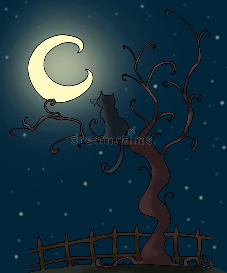 Download Gothic cat stock illustration. Illustration of autumn - 8662155