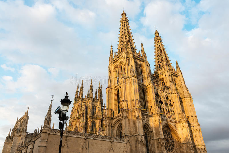 Gothic cathedral of Burgos, Spain royalty free stock image