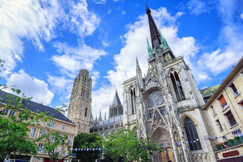 Gothic cathedral of Rouen, Normandy, France royalty free stock photos