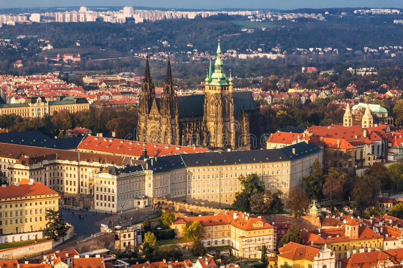 Gothic cathedral (st. Vitus, Prague) stock photography