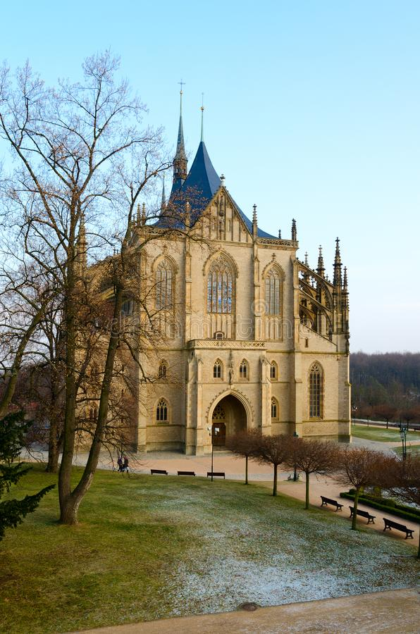 Cathedral of St. Barbara, Kutna Hora, Czech Republic royalty free stock image