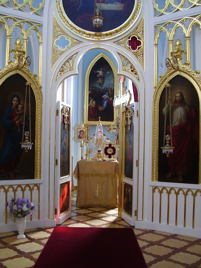 The gothic chapel in peterhof, alexandria. royalty free stock photos