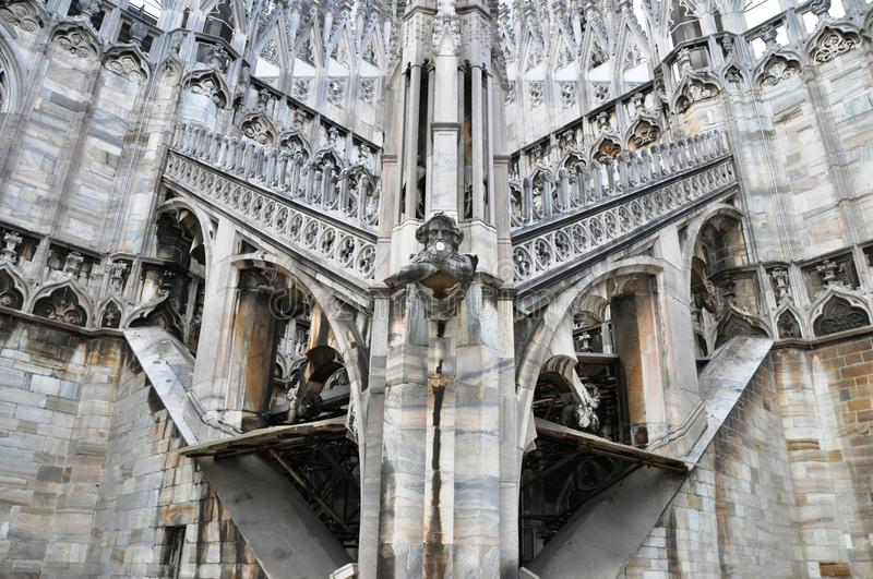 Download Gothic Church Architecture With Gargoyle In Italy Stock Image