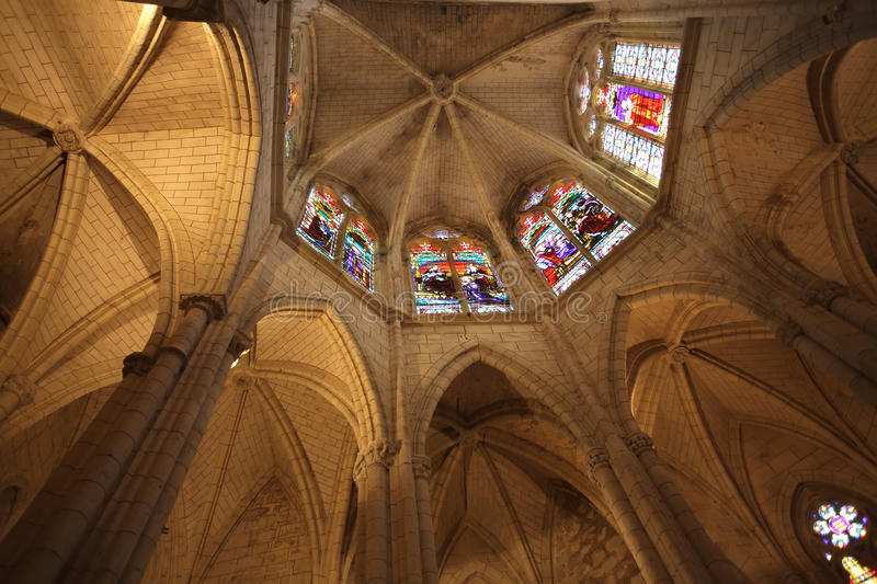 Download Gothic church chancel stock image. Image of ceiling, colorful - 20978321