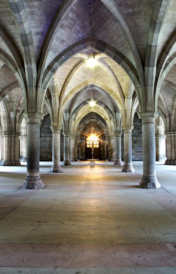 Gothic church cloisters. Cloisters of mediaeval religious building royalty free stock photography