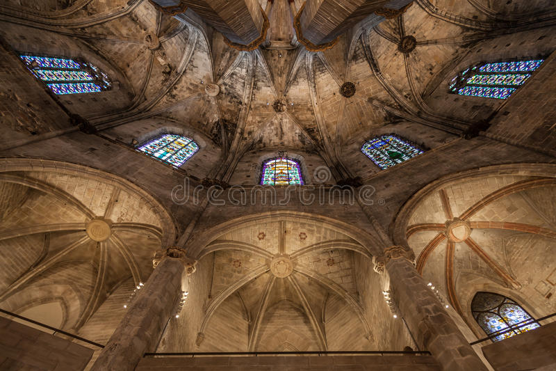 Gothic church interior stock images