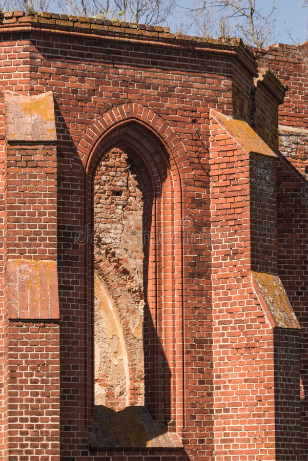 Gothic church ruins royalty free stock image