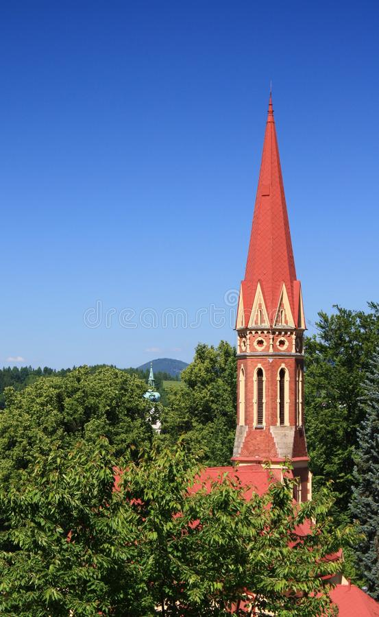 Gothic Church Tower Royalty Free Stock Photography
