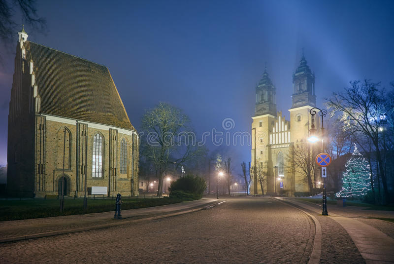 Gothic churches on Cathedral Island. In Poznan royalty free stock image