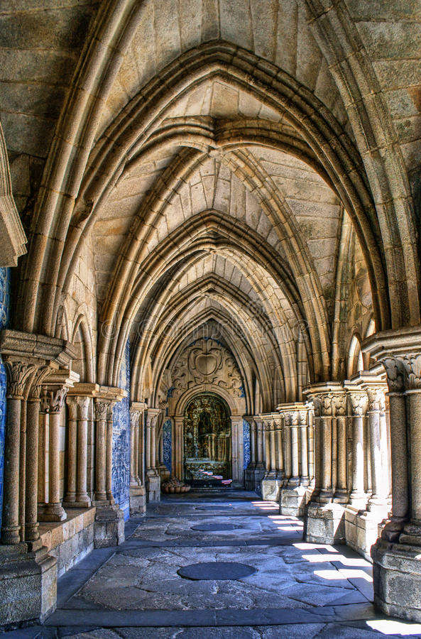Download Gothic Cloister Of The Cathedral Of Porto Stock Image - Image of gothic, cloister: 83614671