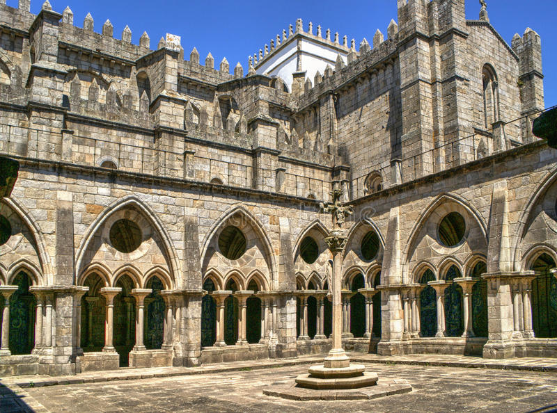 Download Gothic Cloister Of The Cathedral Of Porto Stock Image - Image of building, portugal: 83615249