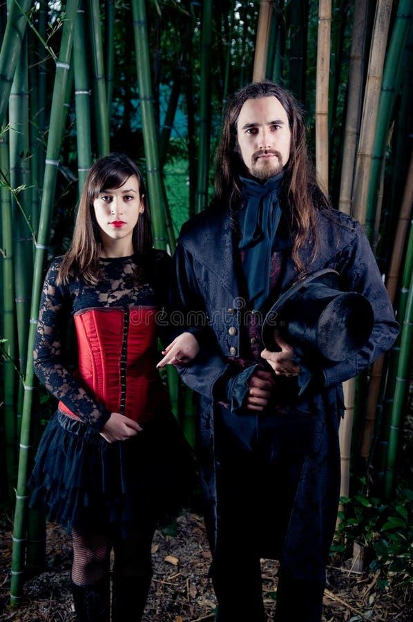 Gothic couple stock image