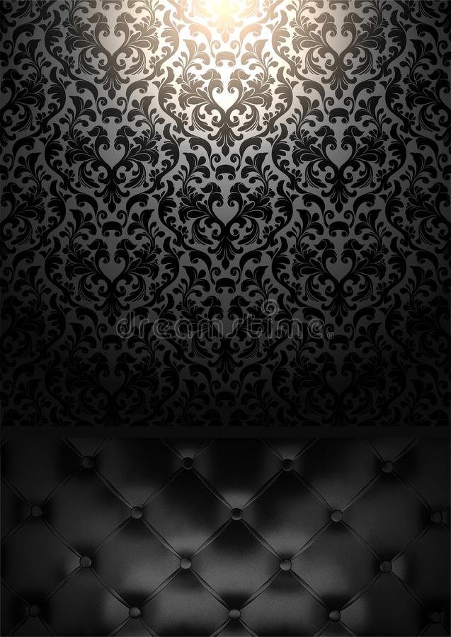 Download Gothic Decor The Sofa And Wallpaper Stock Photo
