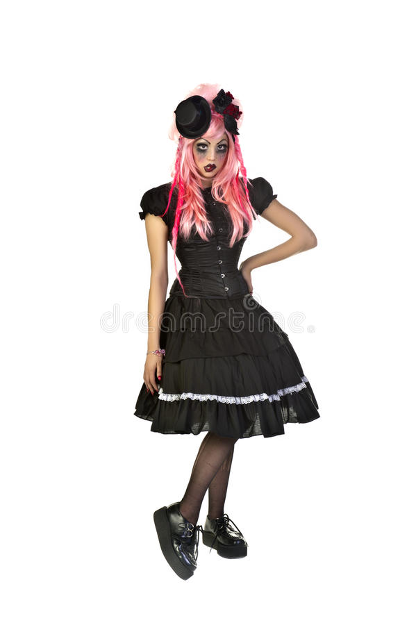 Gothic Doll. Beautiful and dark Gothic and Lolita doll charactor stock photography