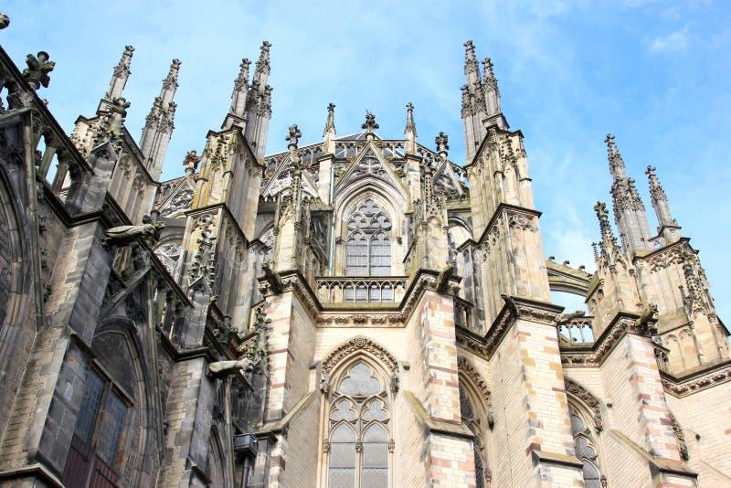 Gothic Dom Church, Utrecht, Netherlands stock images