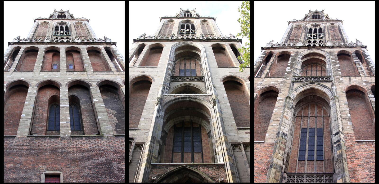Gothic Dom Tower in Utrecht, Netherlands royalty free stock images