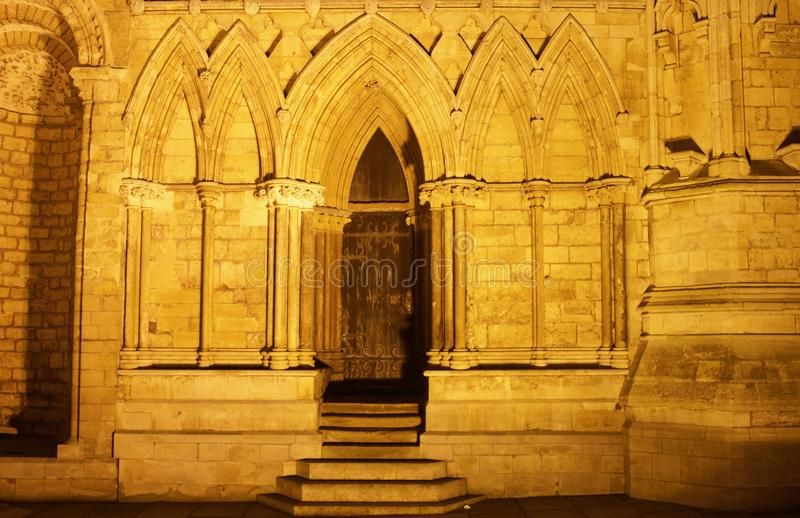 The gothic door royalty free stock photo