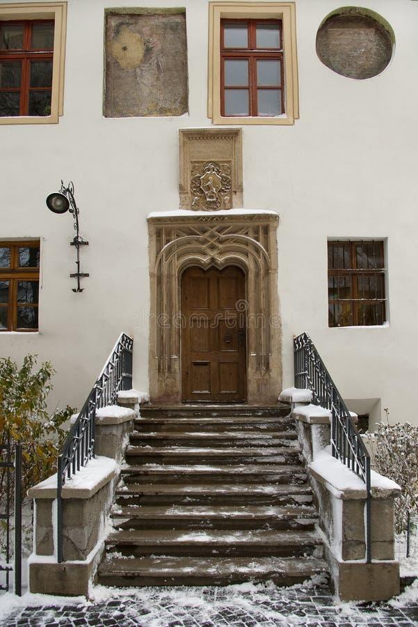 Gothic door portal stock photos