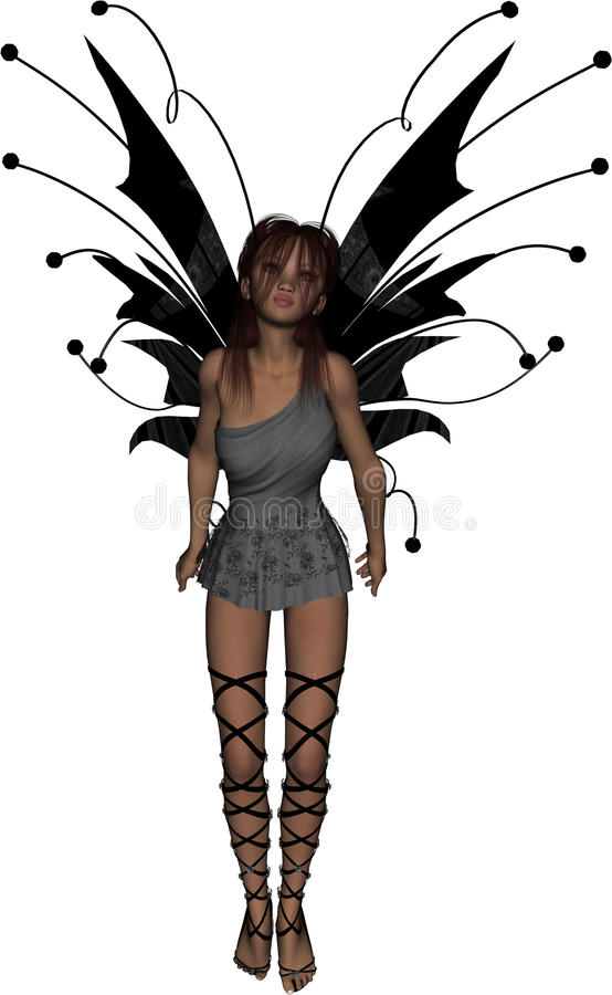 Gothic Fairy Longing. Beautiful gothic fairy with a look of longing royalty free illustration