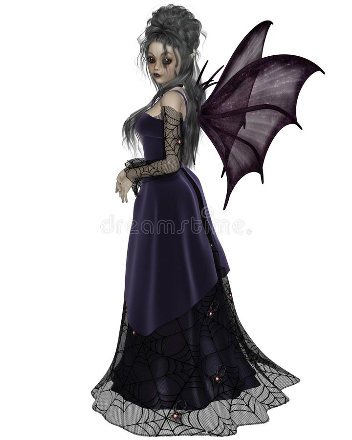 Download Gothic Fairy in Purple stock illustration. Image of wings - 37064331