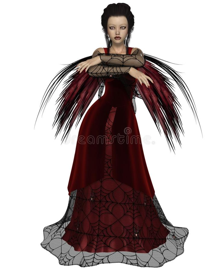 Download Gothic Fairy in Red stock illustration. Illustration of female - 36481249