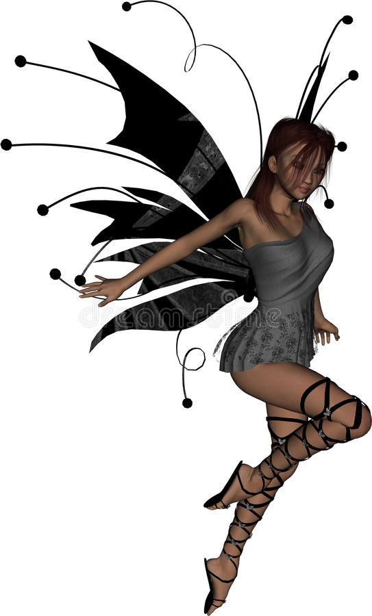 Gothic Fairy Take Off royalty free stock photo
