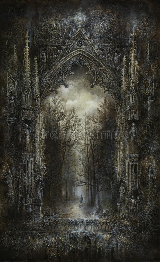 Gothic fantasy stock illustration