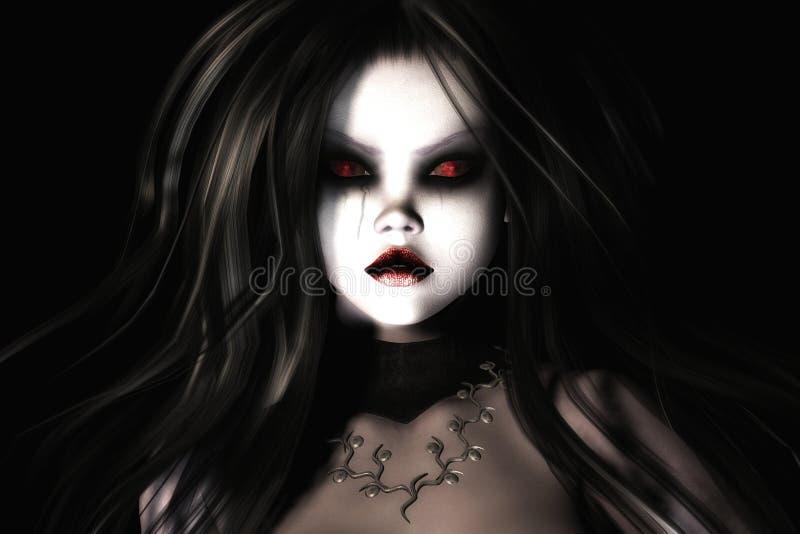Gothic Female royalty free illustration