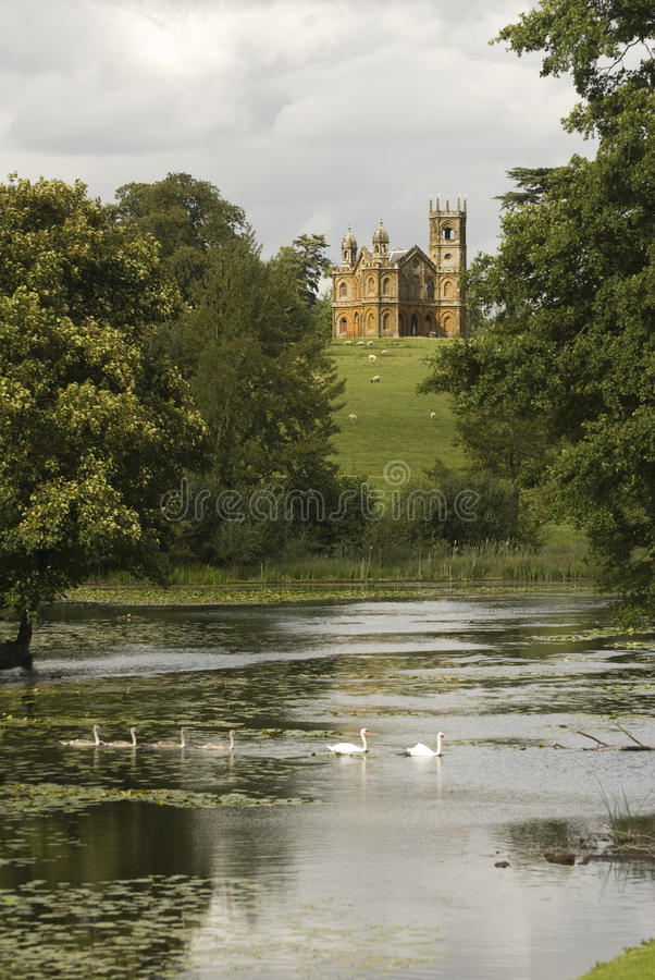 Gothic Folly. A gothic folly in Oxfordshire, England stock photography