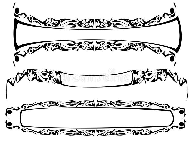 The gothic frame stock illustration