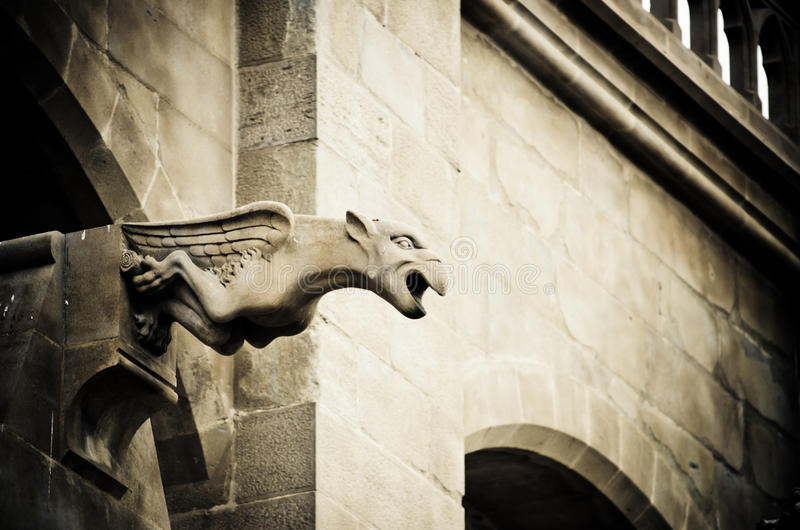 Gothic gargoyle stock photos
