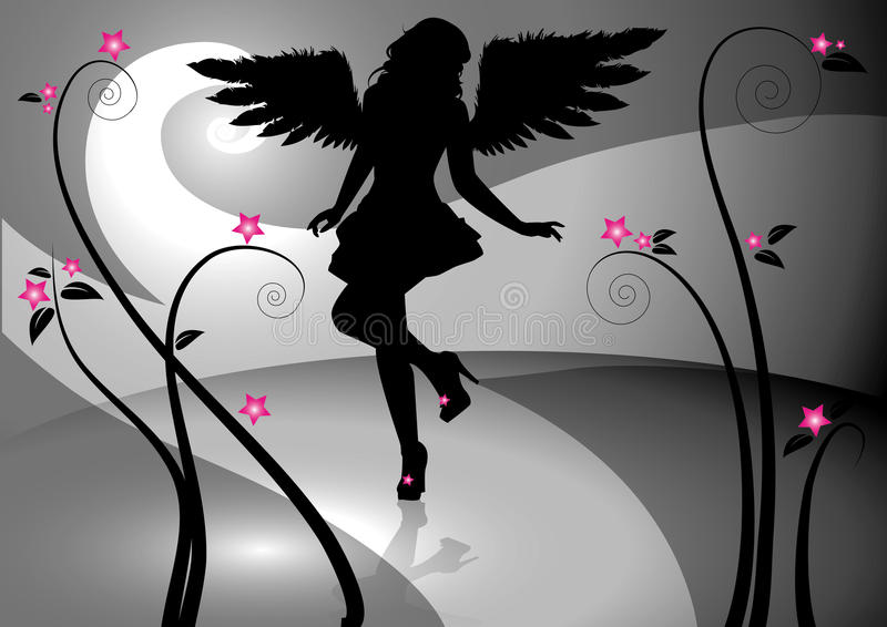 Gothic girl vector illustration