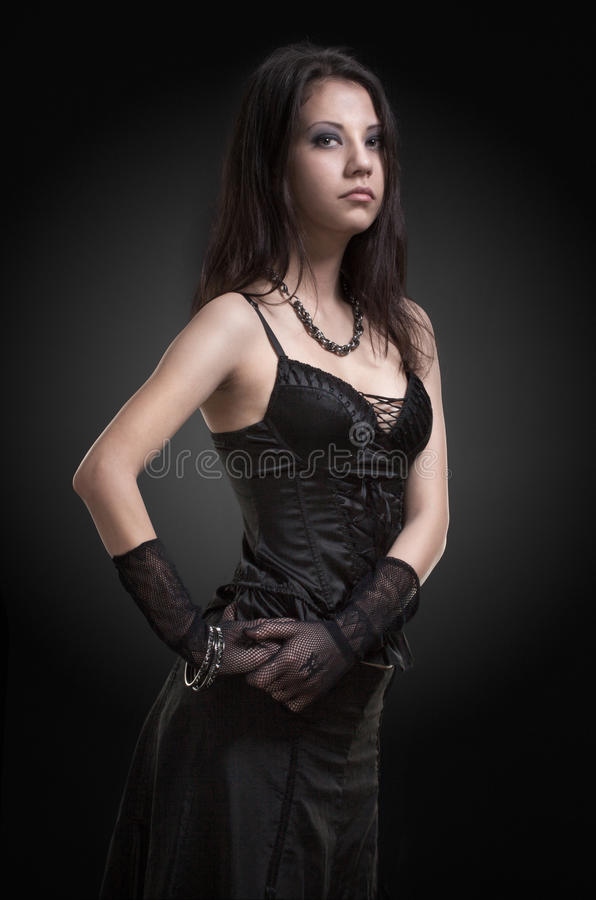 Download Gothic girl stock image. Image of brunette, lady, glamour - 29063065