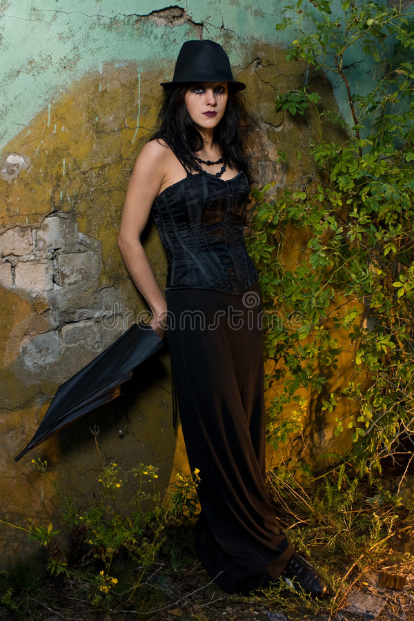 Download Gothic Girl outside stock photo. Image of spooky, goth - 6354296