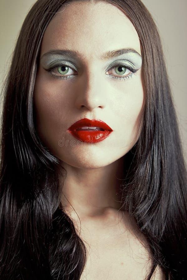 Gothic girl's portrait royalty free stock image