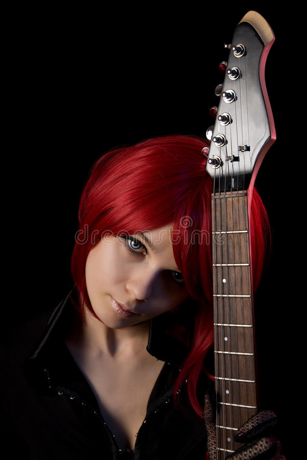 Free Gothic Girl Wearing Scary Contacts Royalty Free Stock Photos - 14490418