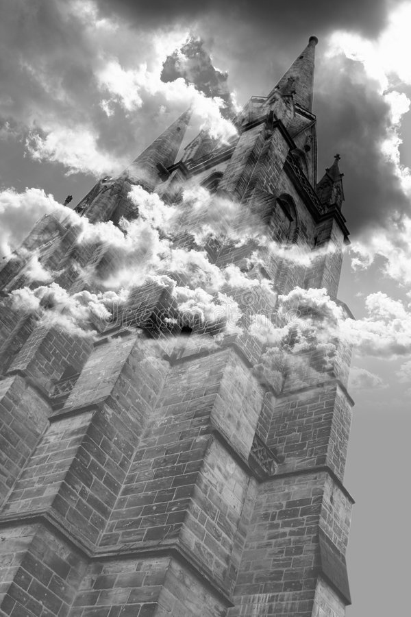 Download Gothic horror tower stock image. Image of mystery, cloud - 3734803