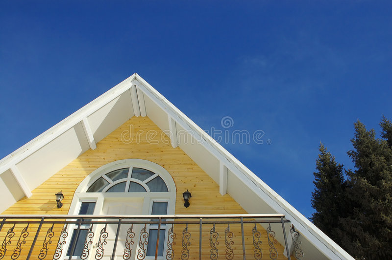 Gothic house stock photography
