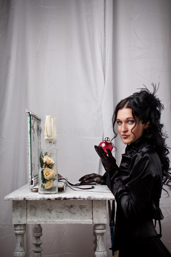 Gothic lady royalty free stock photography