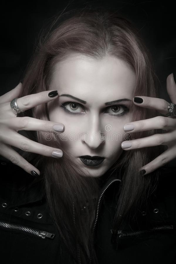 Gothic lady stock photography