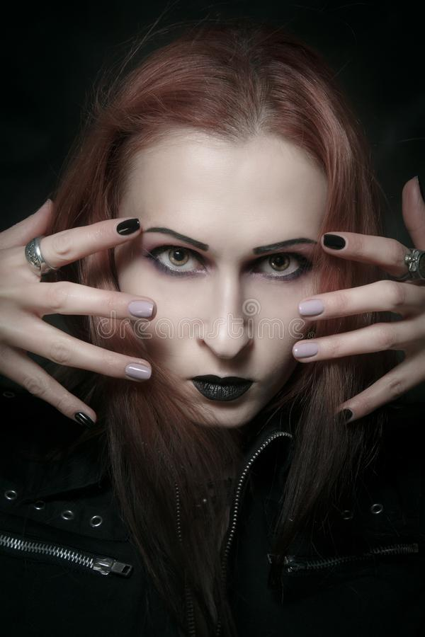 Gothic lady stock image